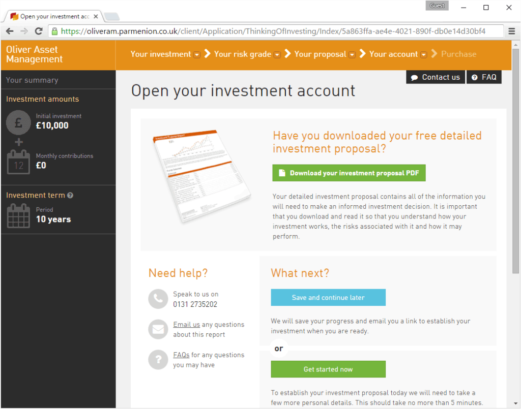 Open Your Investment Account